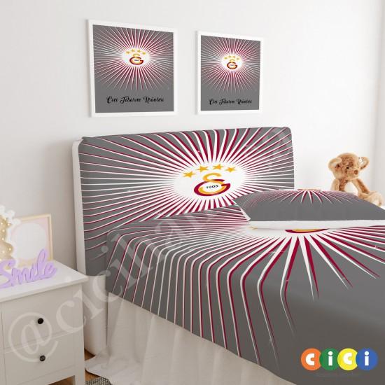 Galatasaray Çocuk Odası Baza Yatak Başlık Kılıfı - BBK-148