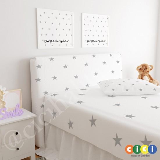 Yıldızlar,Çocuk Odası Baza Yatak Başlık Kılıfı - BBK-174