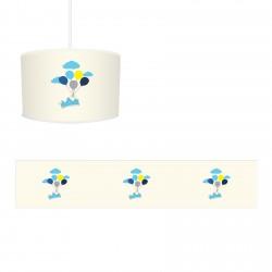 Mavi Taç, Bulutlar ve Renkli Balonlar Erkek Çocuk  Avize-CA219