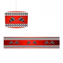 Kırmızı Zemin Yarış Bayrakları Erkek Çocuk Odası Avize-CA23
