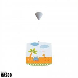 Ağaç Fil Zürafa ve Kelebek Erkek Çocuk  Avize-CA230