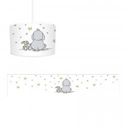 Beyaz Zemin Fil Tavşan ve Yıldızlar Erkek Çocuk  Avize-CA253