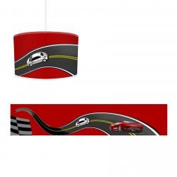 Kırmızı Zemin Yarış Arabaları Erkek Çocuk Odası Avize-CA294