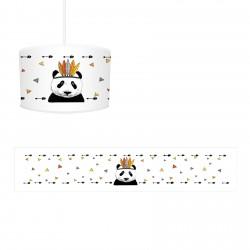 Beyaz Zemin Panda Erkek Çocuk Odası Avize-CA310
