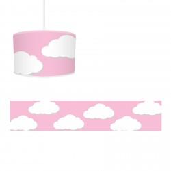 Pembe Zemin ve Bulutlar Kız Çocuk Odası Avize-CA574