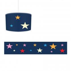 Renkli Yıldızlar ve Koyu Zemin Kız Çocuk  Avize-CA643