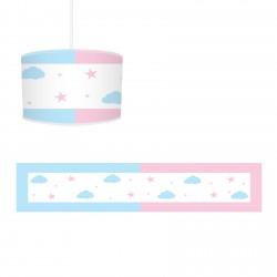Mavi Pembe Bulutlar ve Yıldızlar Avize-CA730