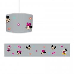 Mickey Mouse ve Minnie Mouse Temalı Seksek Kız Çocuk Odası Avize-CA732