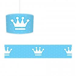 Mavi Zemin Beyaz Büyük Taçlar Erkek Çocuk  Avize-CA95