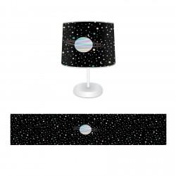 Uzay ve Satürn Erkek Çocuk  Abajur-CAJ134