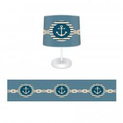 Denizci Temalı Halat ve Çapa Erkek Çocuk  Abajur-CAJ17