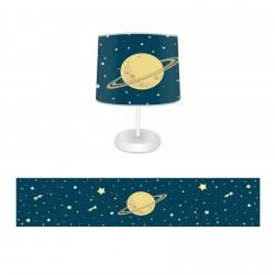 Kayan yıldızlar ve Satürn Erkek Çocuk  Abajur-CAJ196