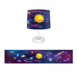 Galaksi Güneş ve Gezegenler Erkek Çocuk  Abajur-CAJ232