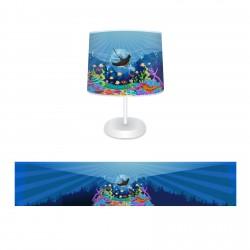 Balık ve Renkli Deniz Altı Erkek Çocuk  Abajur-CAJ240