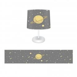 Gezegen ve Sarı Yıldızlar Erkek Çocuk Odası Abajur-CAJ307