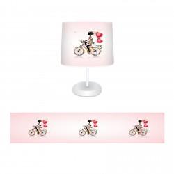 Bisikletli Prenses Kız Çocuk Odası Abajur-CAJ530