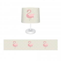 Bej Zemin ve Flamingo Kız Çocuk  Abajur-CAJ699