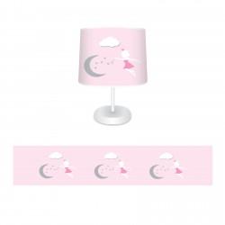 Ay Dede ve Peri Kızı Kız Çocuk Odası Abajur-CAJ729