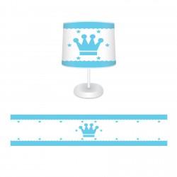 Mavi Kral Taclı Çocuk  Abajur-CAJ73