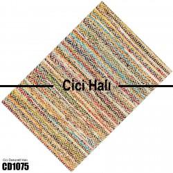 Alacalı Zigzag Kilim Desenli Dekoratif Halısı-CD1075