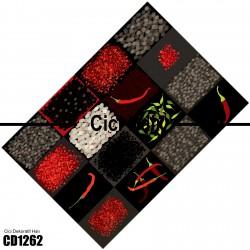 Bakliyat DesenliDekoratif Halısı-CD1262