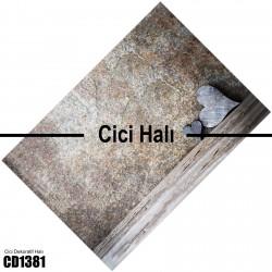 Alaca Koyu Zemin Şerit Temalı Dekoratif Halısı-CD1381