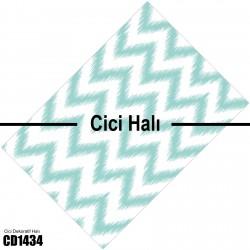 Alacalı Zigzag Desen Dekoratif Halısı-CD1434
