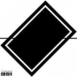 Beyaz Çerçeve Siyah Zemin Dekoratif Halısı-CD1511
