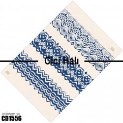 Açık Zemin Lacivert Motif Desenli Dekoratif Halısı-CD1556