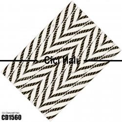 Açık Zemin İlizyon Düz Çizgiler Dekoratif Halısı-CD1560