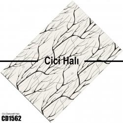 Açık Zemin Ağaç Dalı Desenli Dekoratif Halısı-CD1562