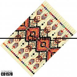 Açık Zemin Etnik Kilim Desen  Halısı-CD1578