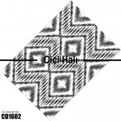 Açık Zemin Baklava Geometrik Desen  Halısı-CD1602