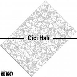 Açık Zemin Klasik Beyaz Desen  Halısı-CD1607