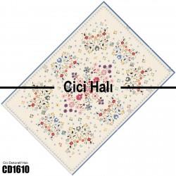 Açık Zemin Çiçek Kompleks Desen  Halısı-CD1610
