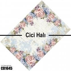 Açık Eskitme Zemin Çiçek Köşe  Halısı-CD1645
