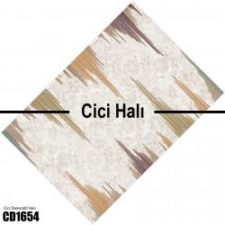 Batik Zemin Kenar Çizgi Desen  Halısı-CD1654