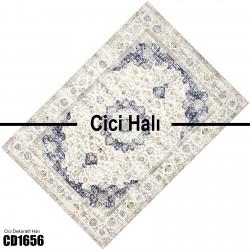 Açık Zemin Eskitme Klasik Desen  Halısı-CD1656