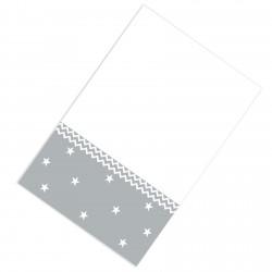 Gri Beyaz Zemin Zigzag ve Yıldızlar Erkek Çocuk  Halısı-CE110