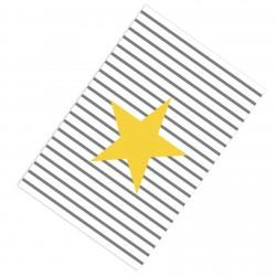 Büyük Sarı Yıldız ve Çizgiler Erkek Çocuk  Halısı-CE127
