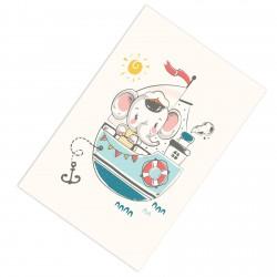 Denizci Fil ve Gemi Erkek Çocuk  Halısı-CE138