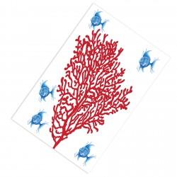 Akvaryum Bitkisi ve Mavi Balıklar Erkek Çocuk Odası Halısı-CE149