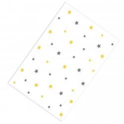 Gri , Sarı Yıldızlar Erkek Çocuk Odası Halısı-CE156