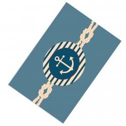 Denizci Temalı Halat ve Çapa Erkek Çocuk  Halısı-CE17