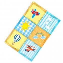 Güneş Bulut ve Uçan Araçlar Erkek Çocuk  Halısı-CE203