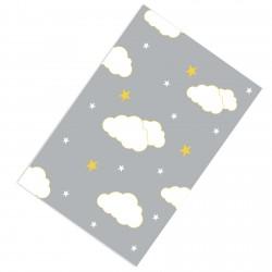 Gri Zemin Sarı Çizgiler Bulutlar Erkek Çocuk  Halısı-CE207