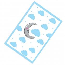 Mavi Bulutlar ve Sevimli Ay Erkek Çocuk  Halısı-CE237