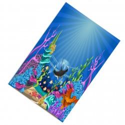 Balık ve Renkli Deniz Altı Erkek Çocuk  Halısı-CE240