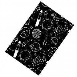 Siyah Zemin Gezegenler ve Roketler Erkek Çocuk  Halısı-CE256