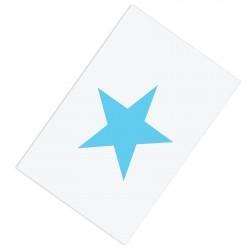 Beyaz Zemin Mavi Yıldız Erkek Çocuk Odası Halısı-CE66